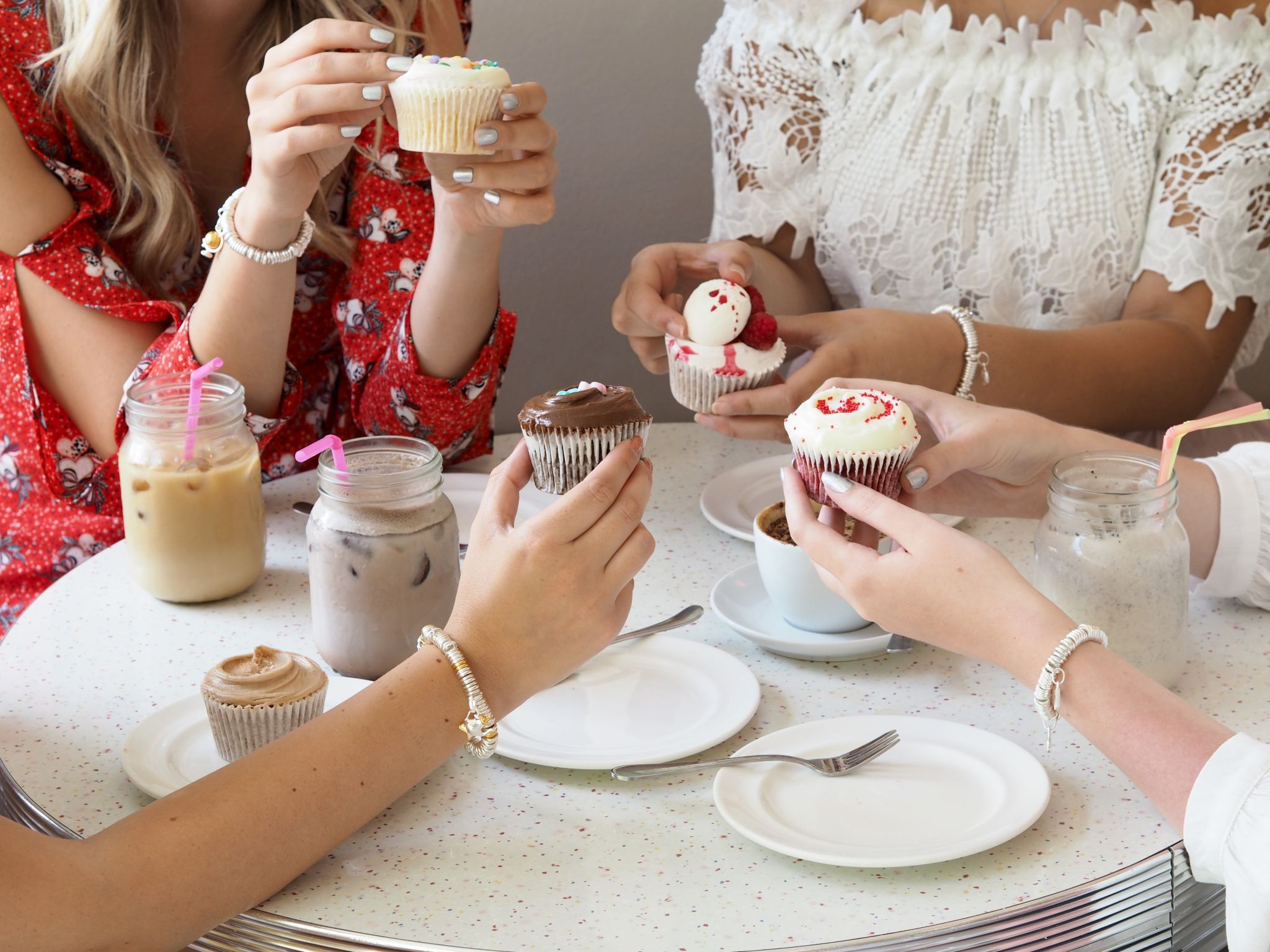 cupcakes and Links of London sweetie bracelets