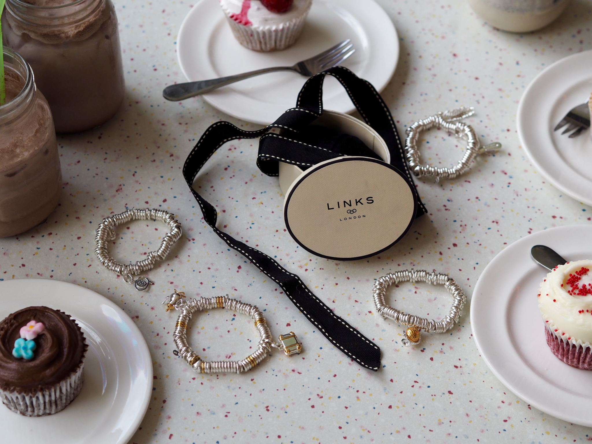 Links of London sweetie bracelets table