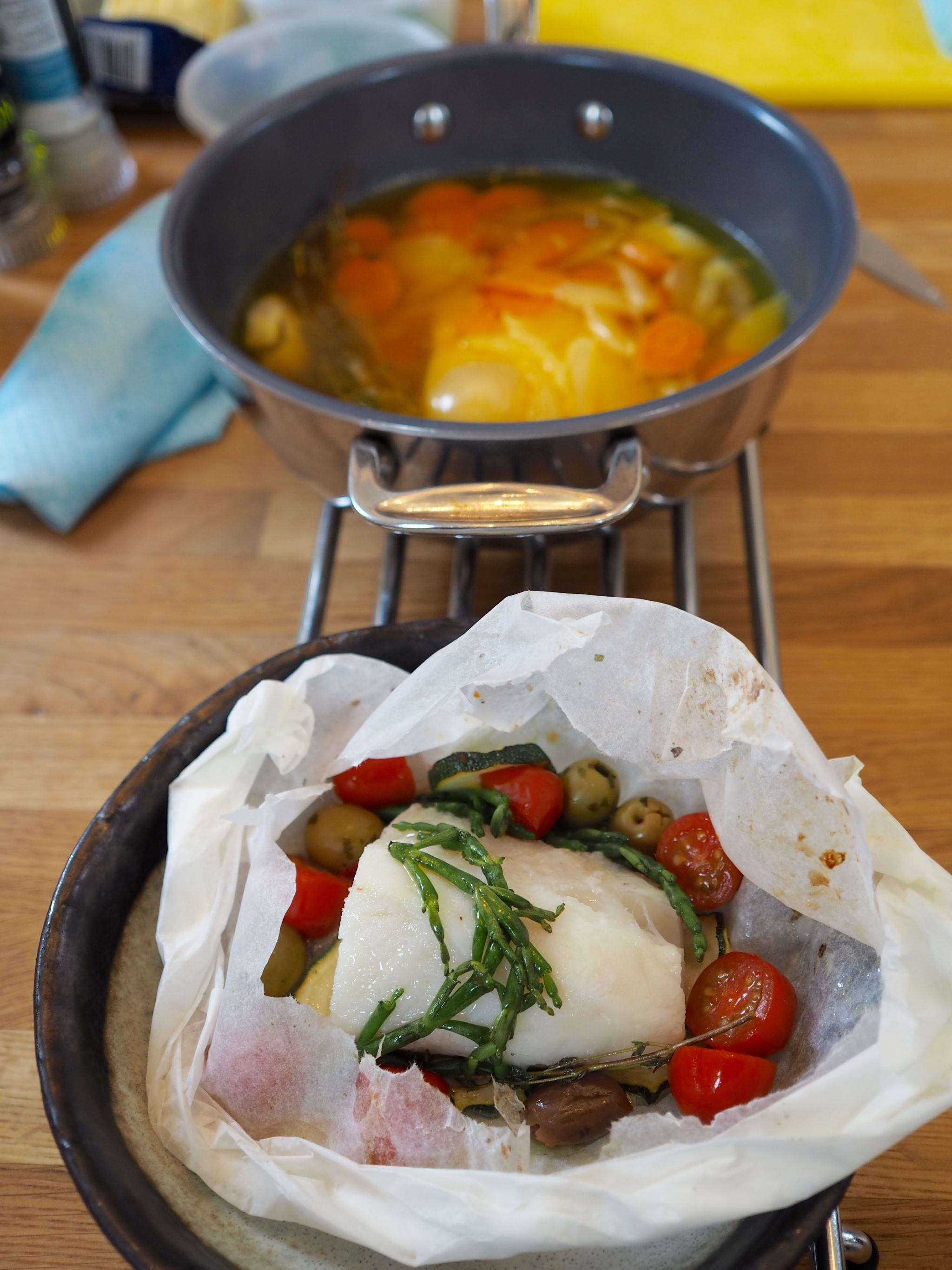 Chelsea Iceland School of fish cooking school neil nugent sea bass