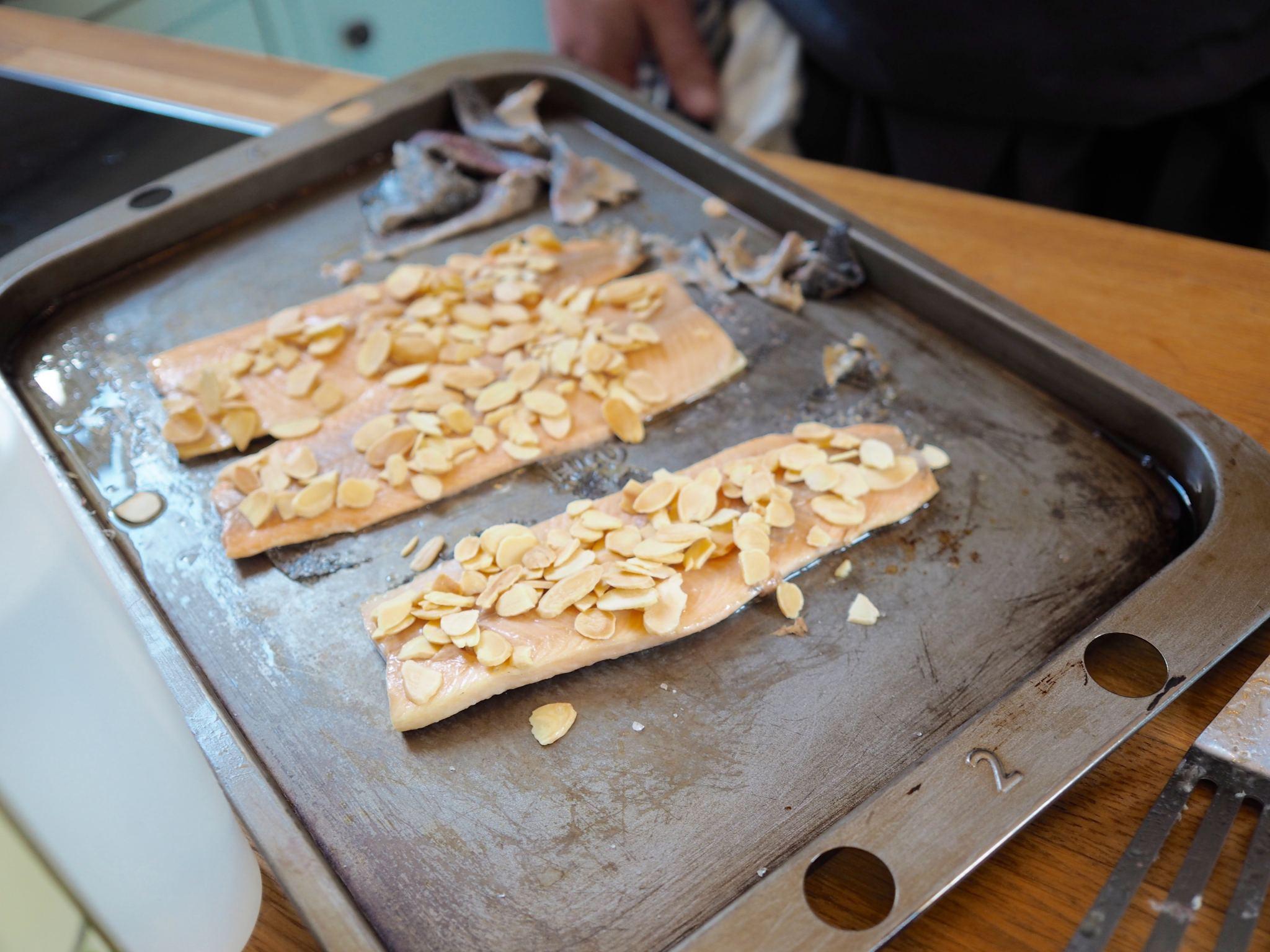 Chelsea Iceland School of fish cooking school neil nugent almonds