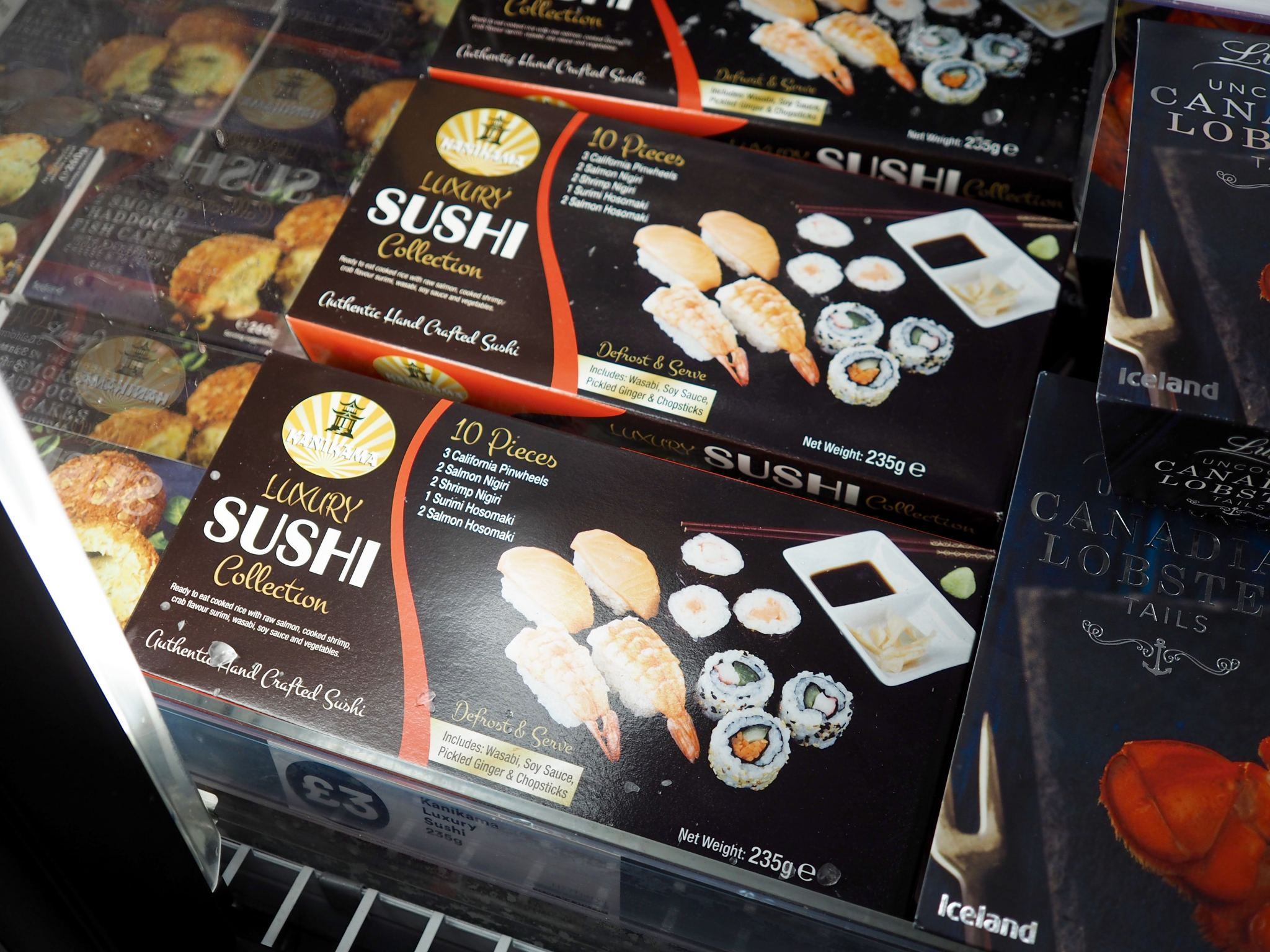 Cocoa Chelsea Iceland School of fish sushi frozen