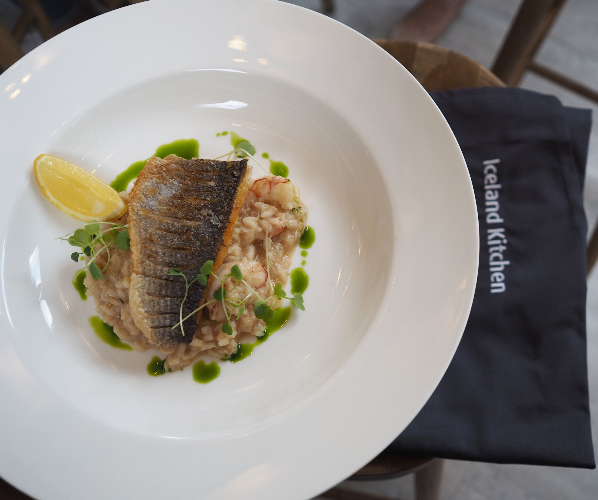 Chelsea Iceland School of fish cooking school neil nugent risotto prawns