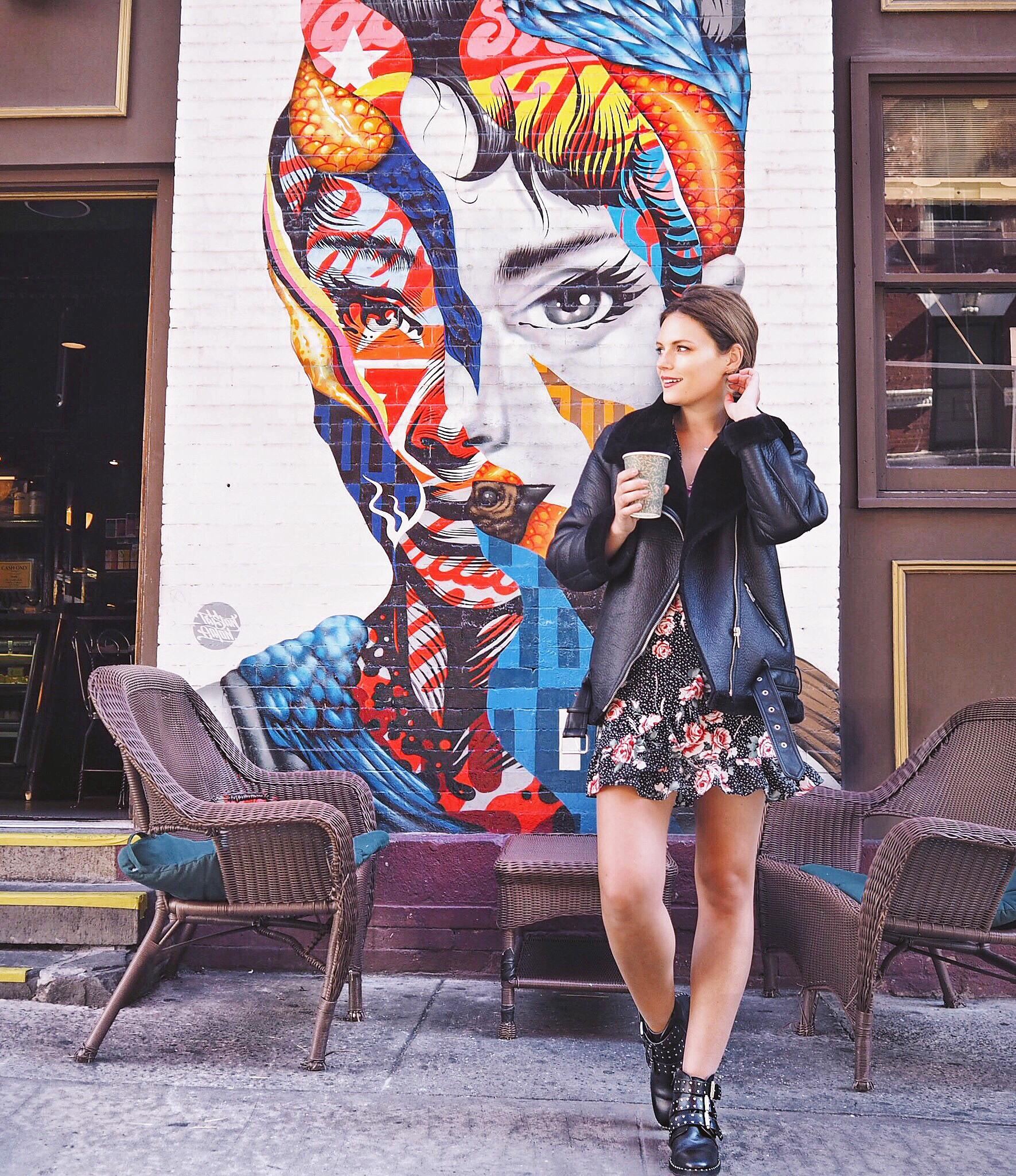 New york cocoa chelsea jesschamilton audrey hepburn graffiti