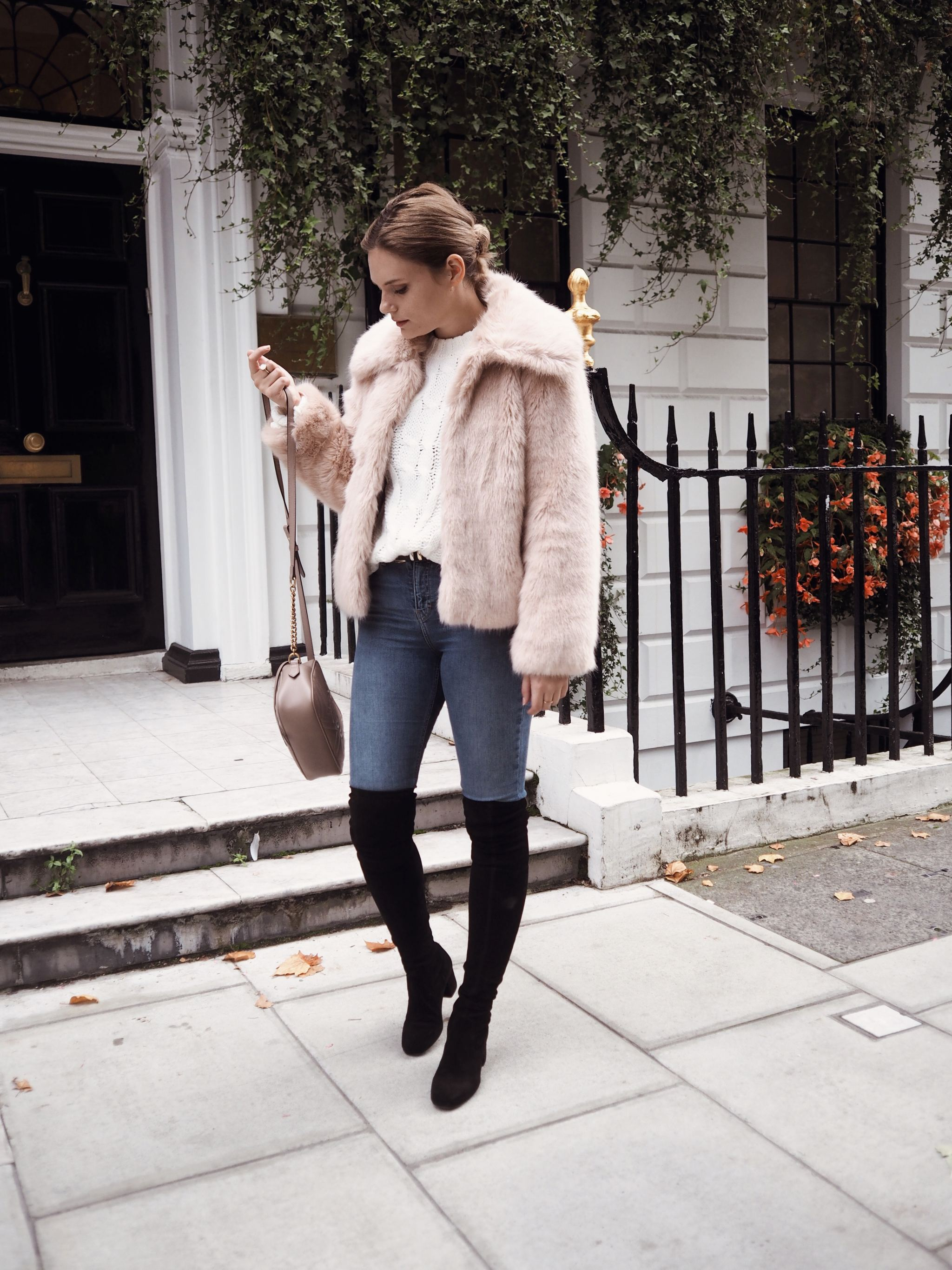 Selfridges Maje boots luxury london street style cocoa chelsea