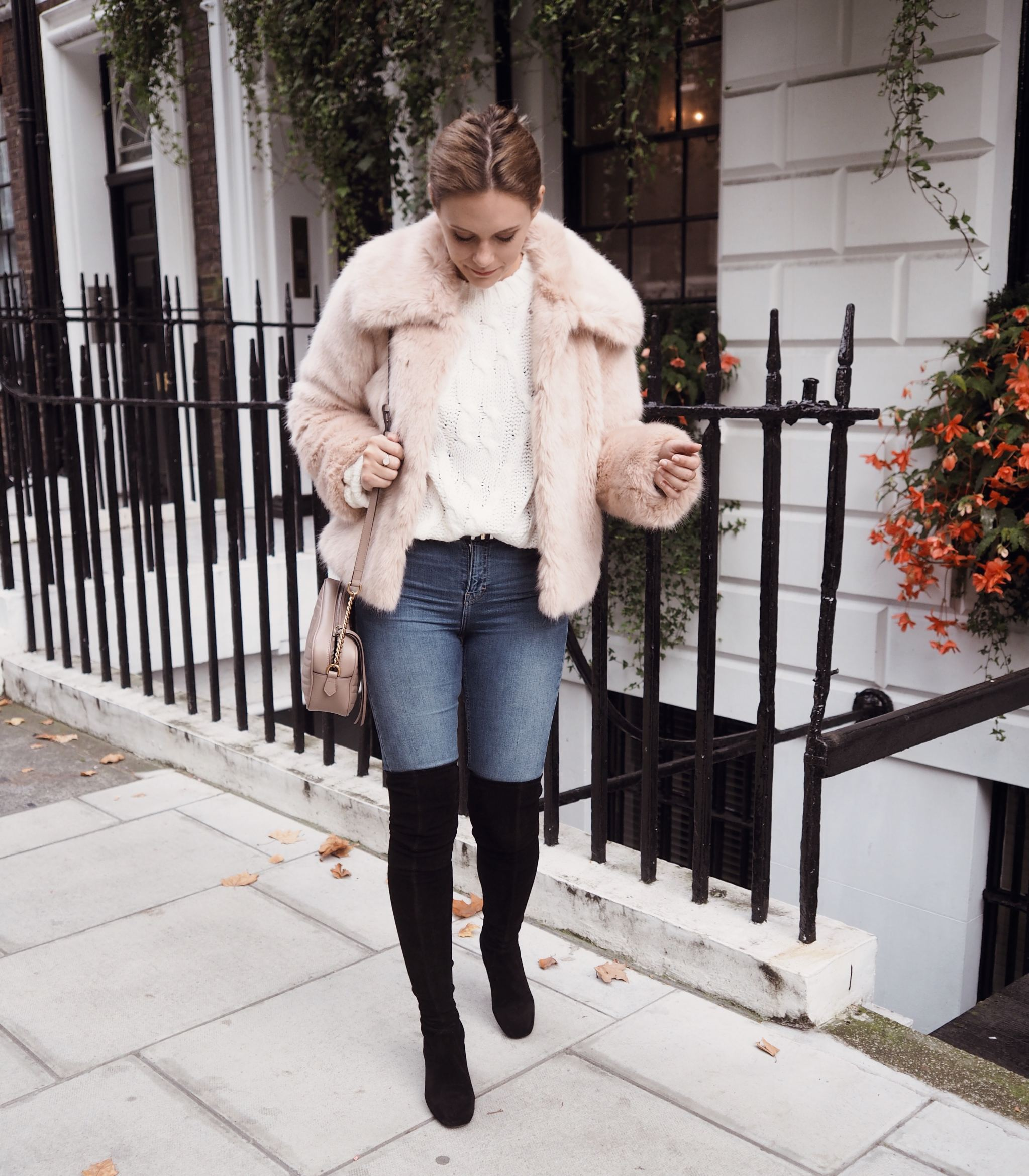 Selfridges Maje boots luxury london street style cocoa chelsea winter