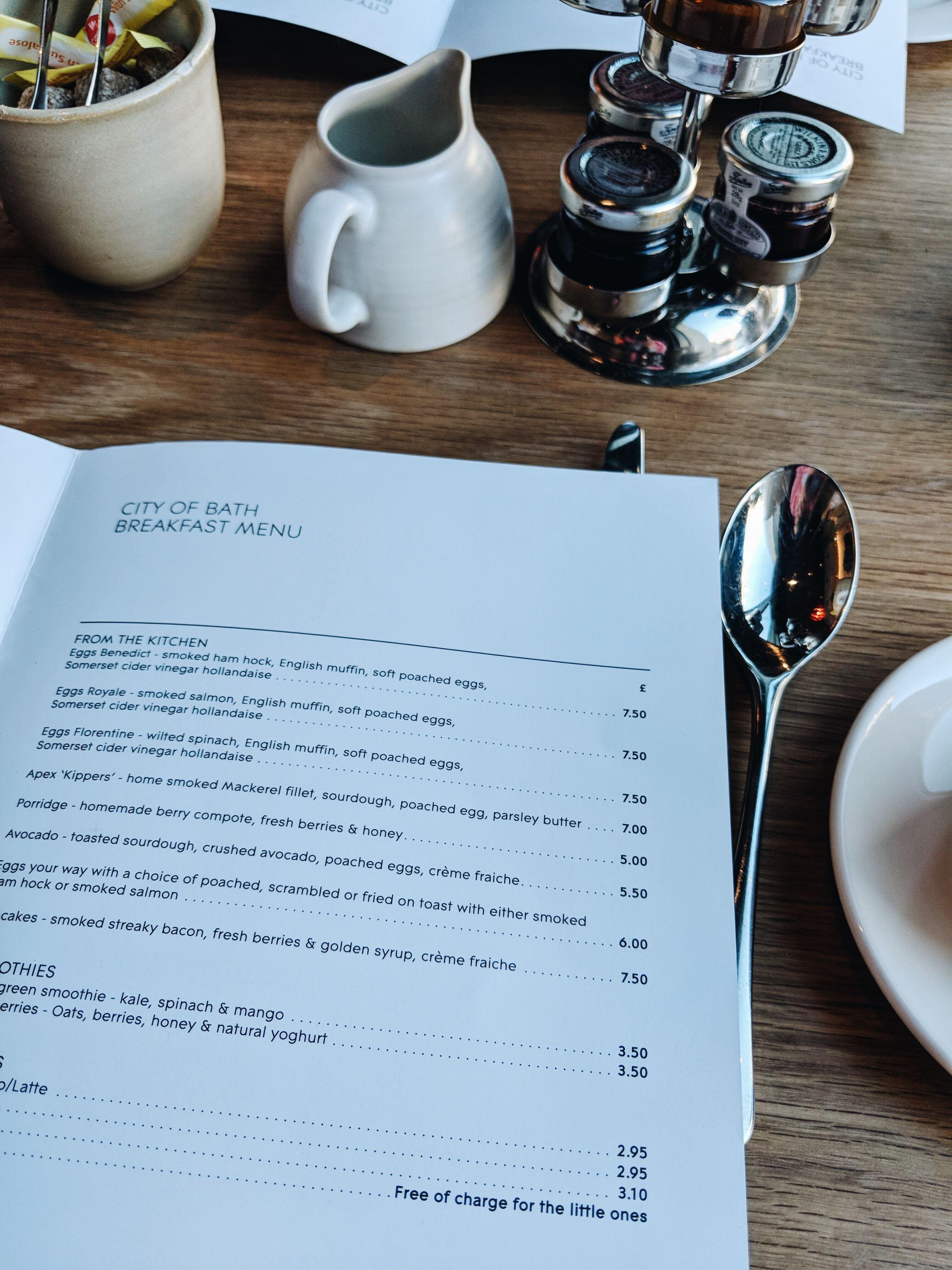 Cocoa Chelsea Apex Hotels City of Bath breakfast