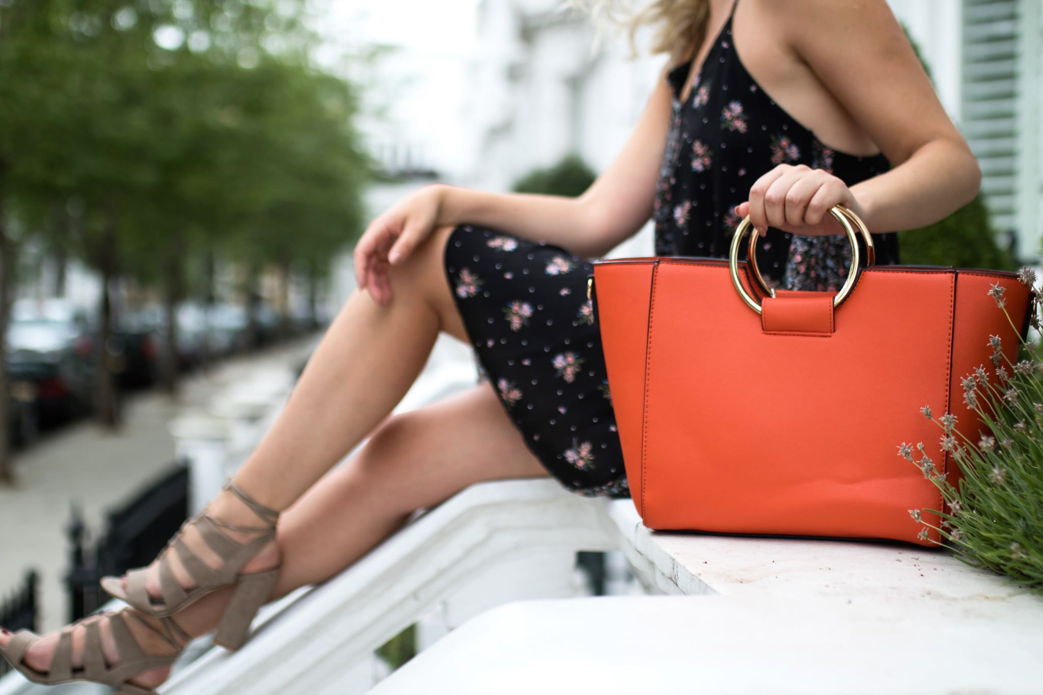 New Look Outfit Cocoa Chelsea orange bag