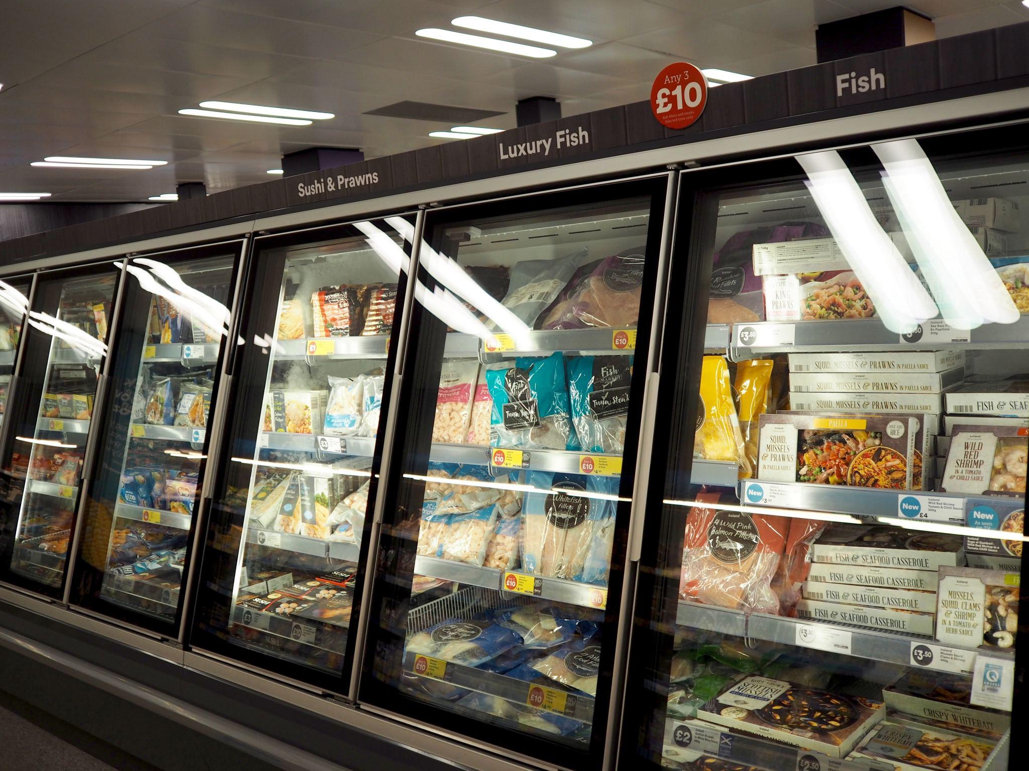 Cocoa Chelsea Iceland fish freezers frozen food 1