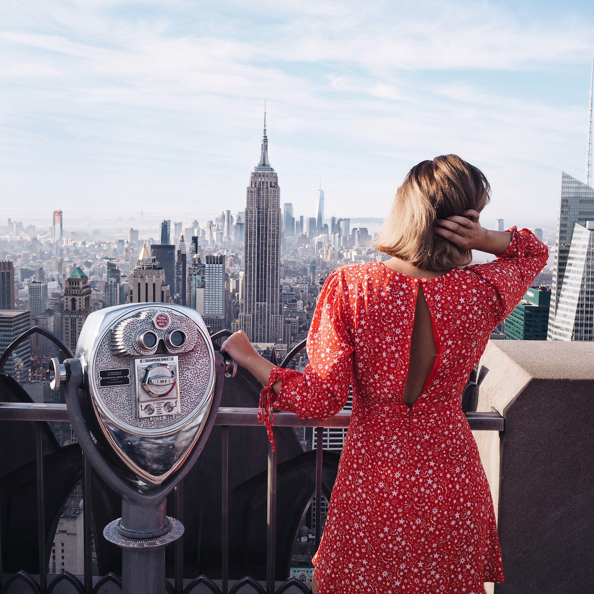 New york cocoa chelsea jesschamilton top of the rock red Topshop dress