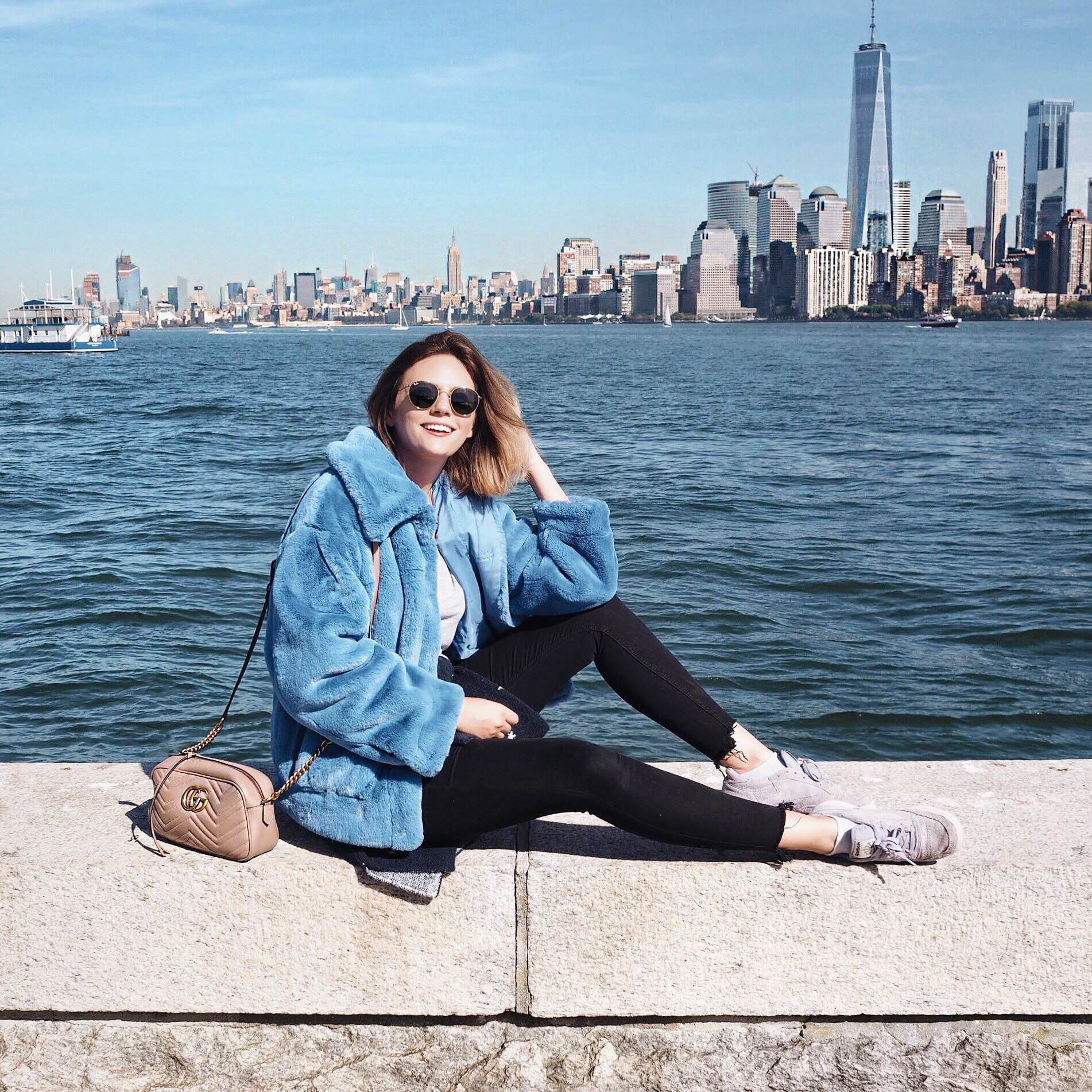 skyline blue coat New york cocoa chelsea jesschamilton