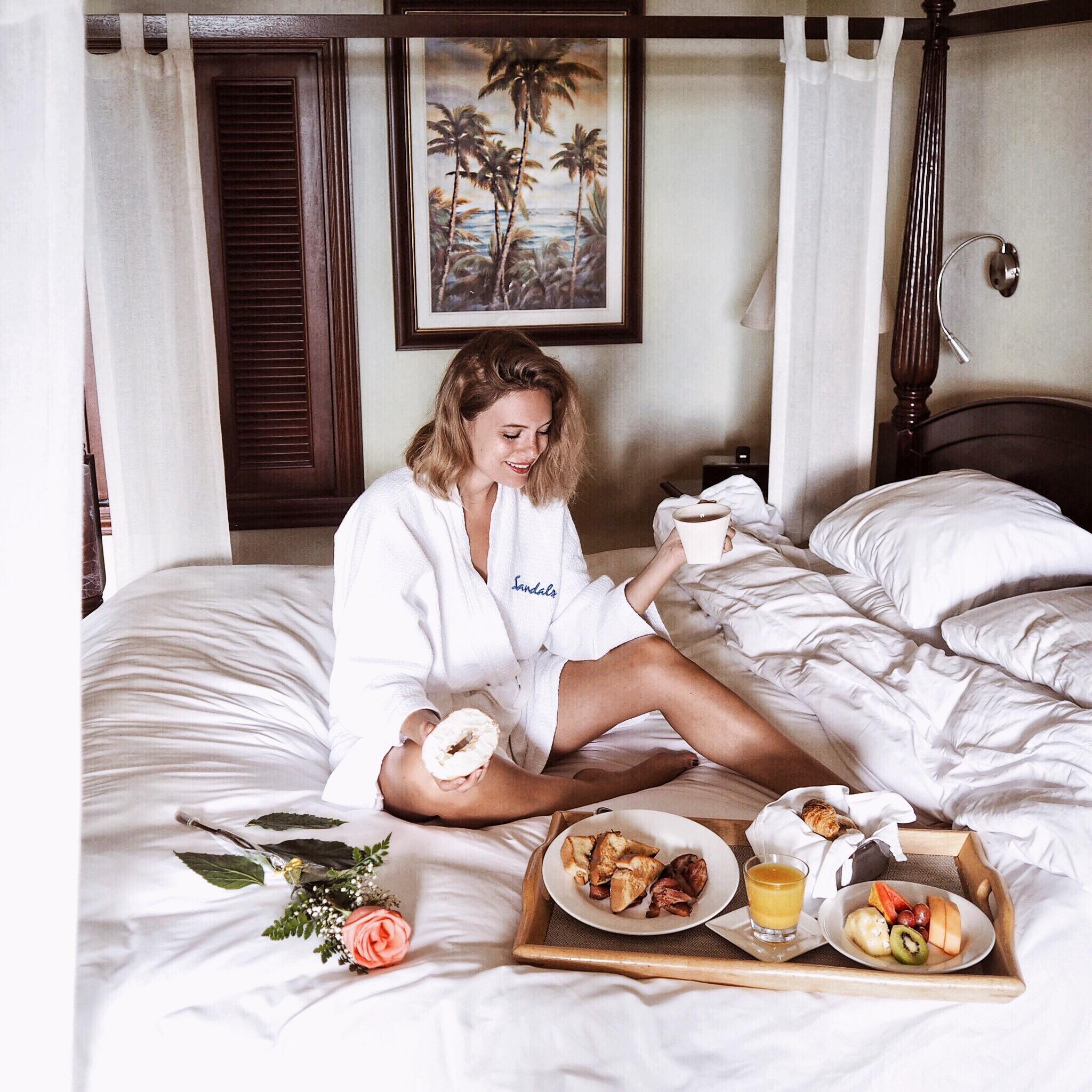 sandals resort montego bay jesschamilton breakfast in bed