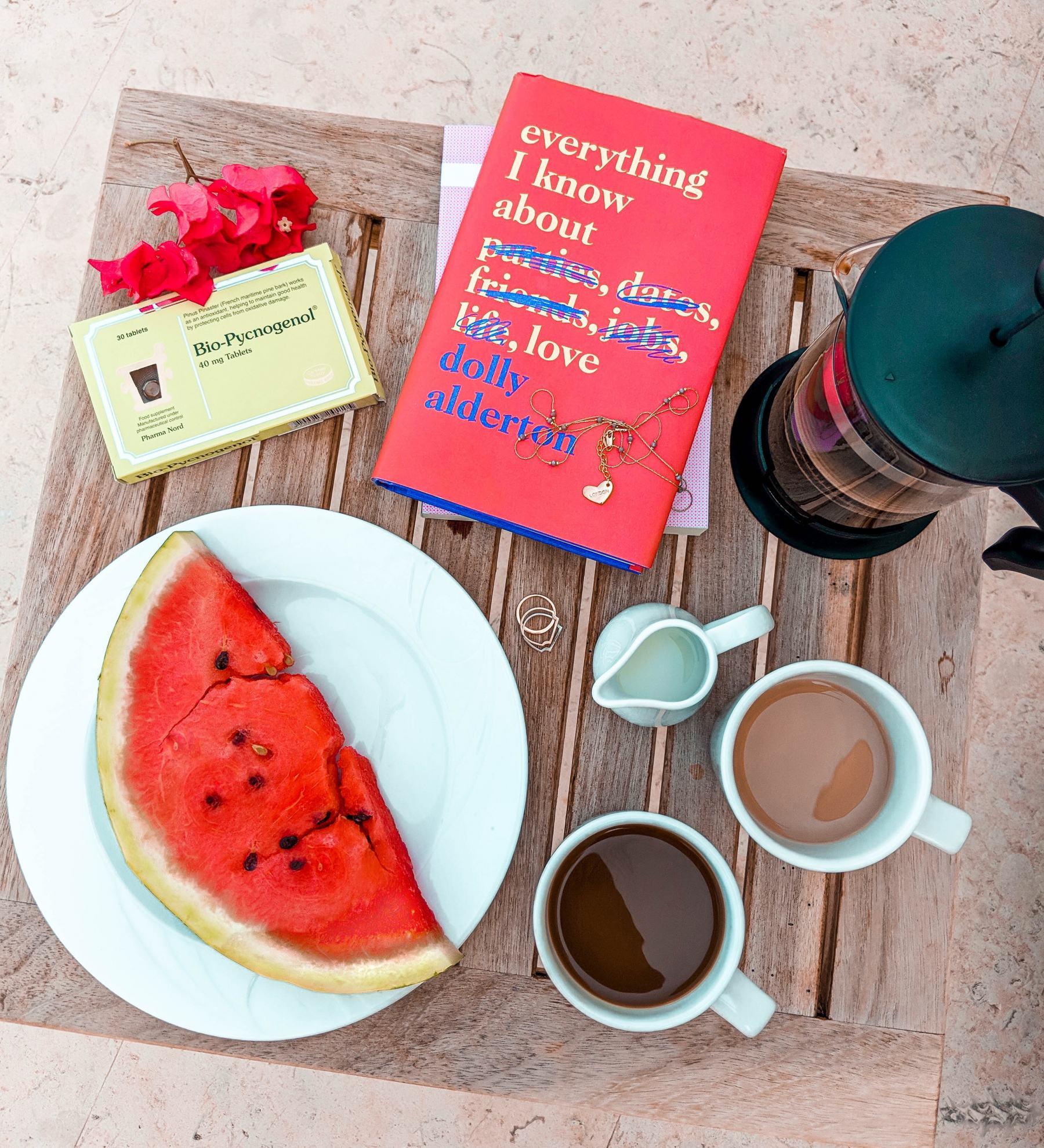 cocoa chelsea jesschamilton travel revolve bikini fruit swimwear health travel coffee