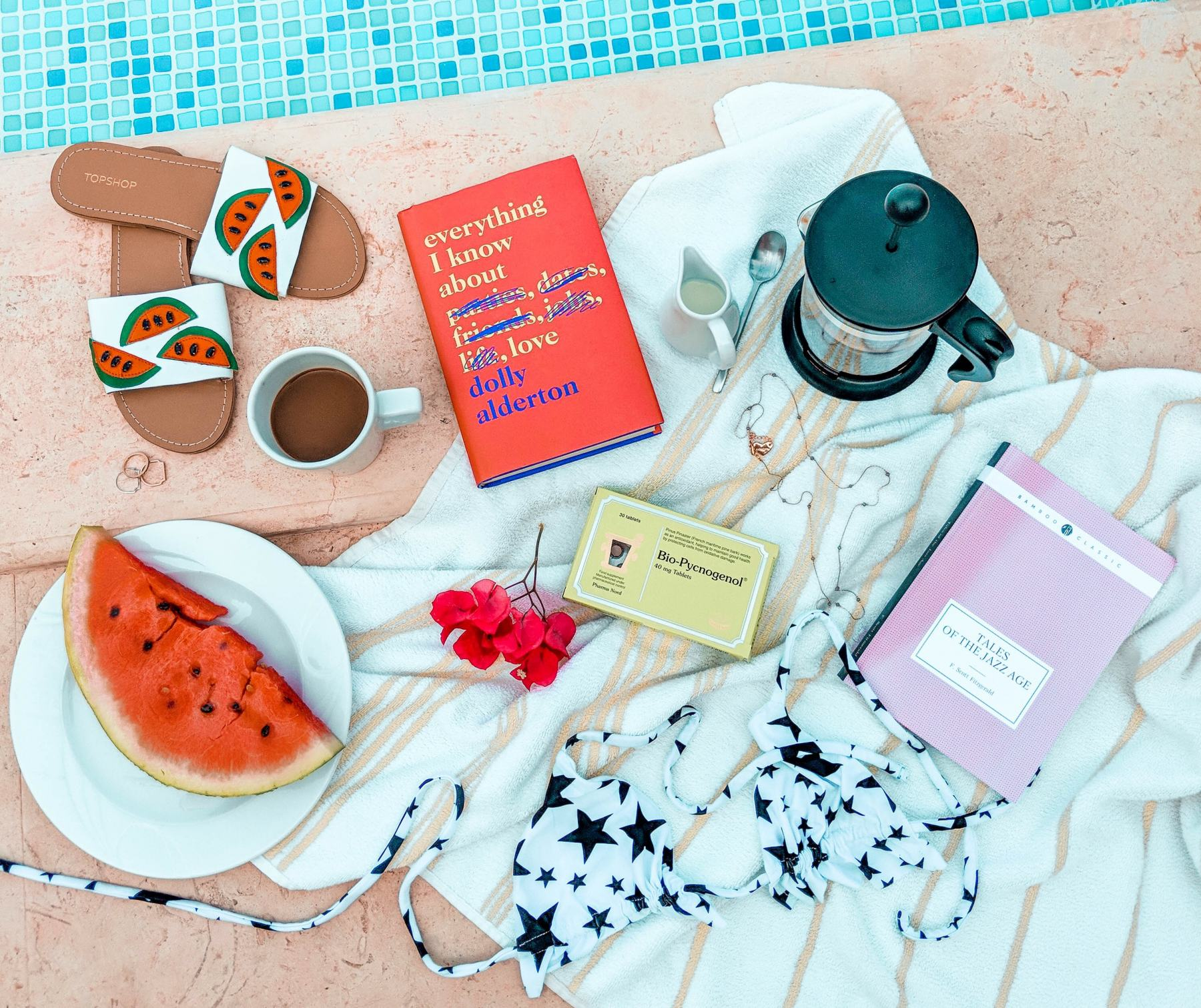 cocoa chelsea jesschamilton travel revolve bikini fruit swimwear health travel dolly book