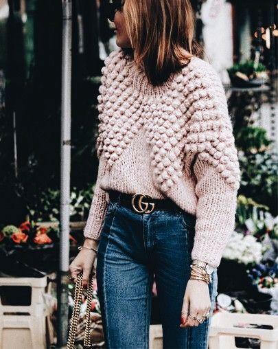 cocoa chelsea knitwear bobble knit jumper oversized pinterest jesschamilton style autumn fashion haul
