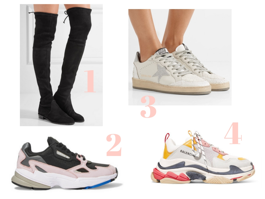 net-a-porter sale cocoa chelsea what to buy shoes stuart weitzman boots golden goose adidas balenciage