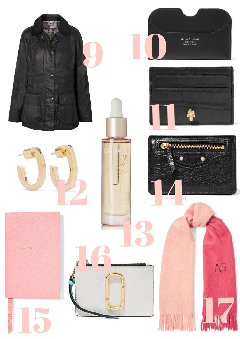 net-a-porter sale cocoa chelsea what to buy under £200 card holder wallet earrings notebook scarf jacket gloves accessories balenciage