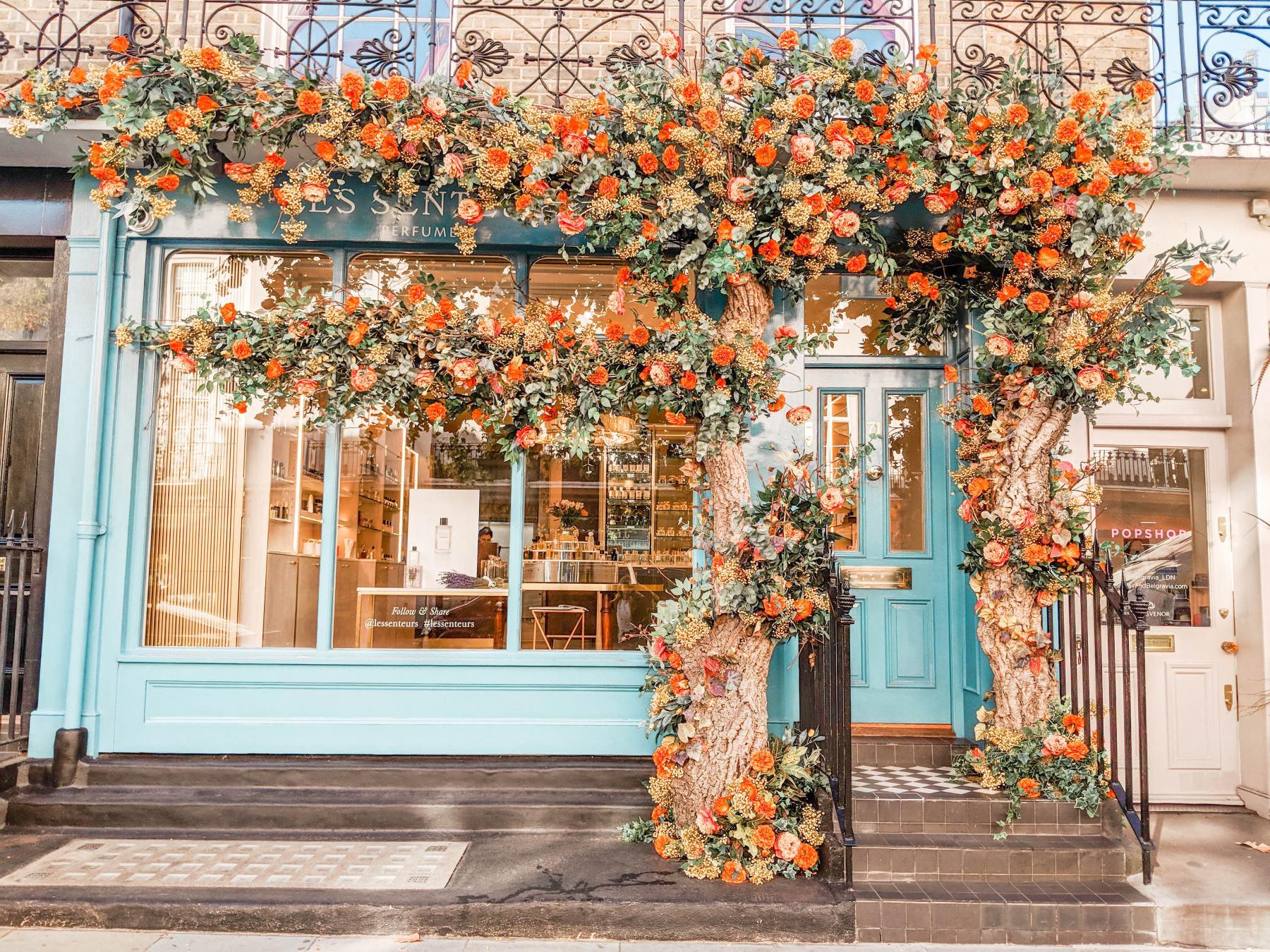 instagram guide london most instagrammable eccleston yards flower wall flowers